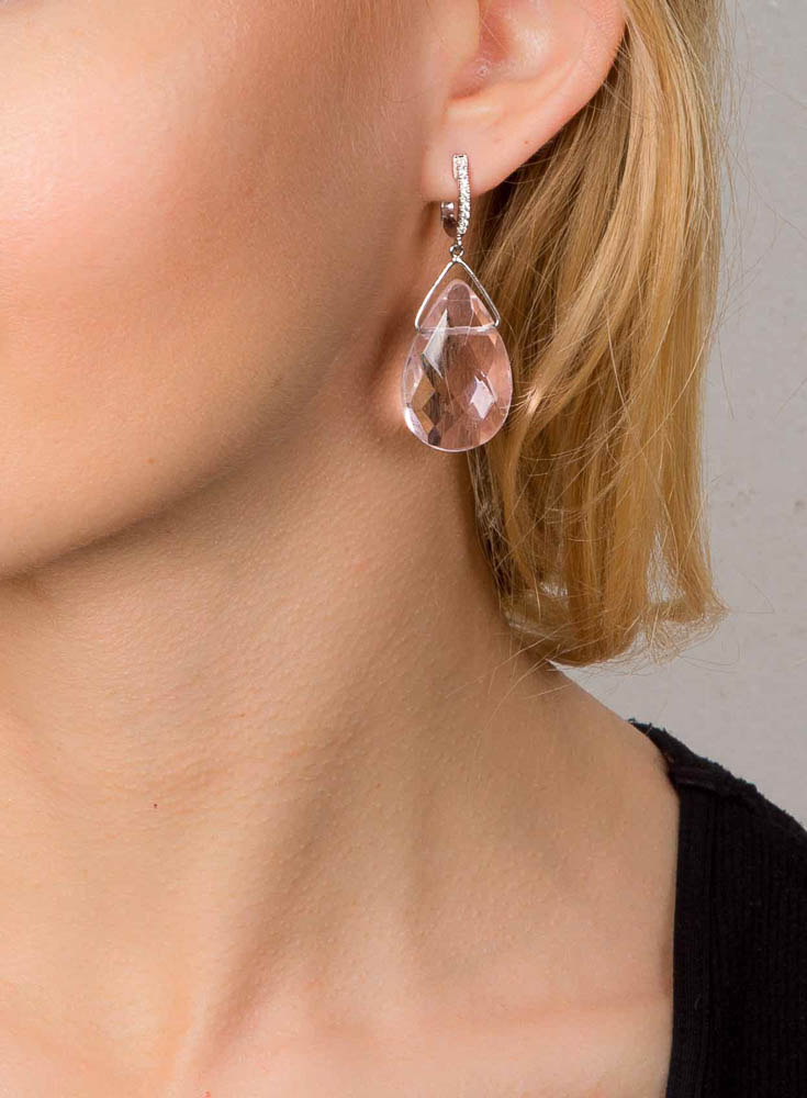 Pink Danburite Earrings