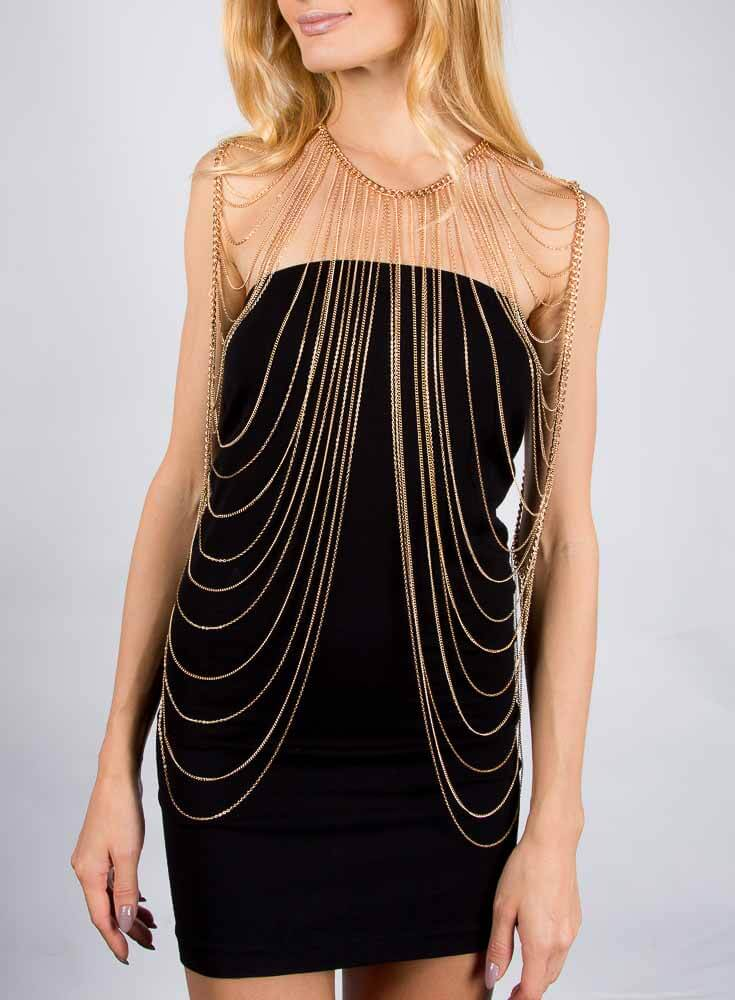 Azariah Body Chain - Gold