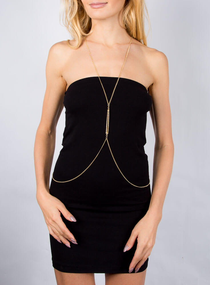 Diamante Bar Body Chain