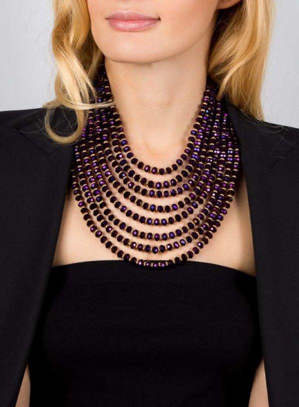 Hanniel Necklace - Purple