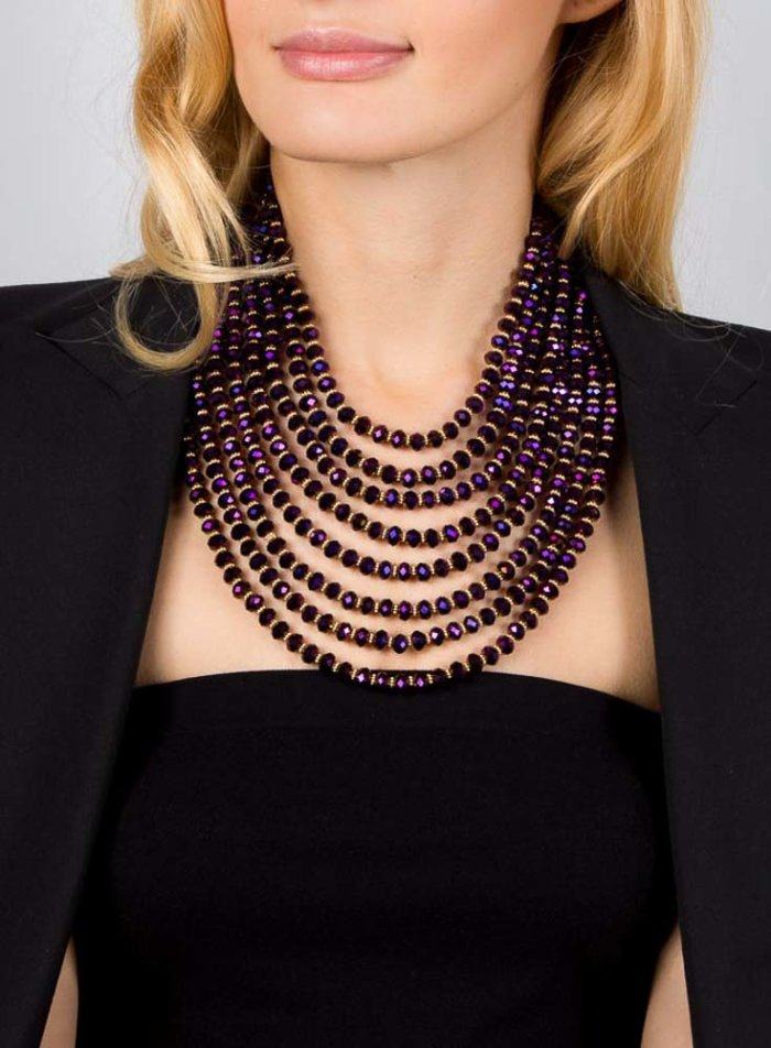 Hanniel Necklace - Purple