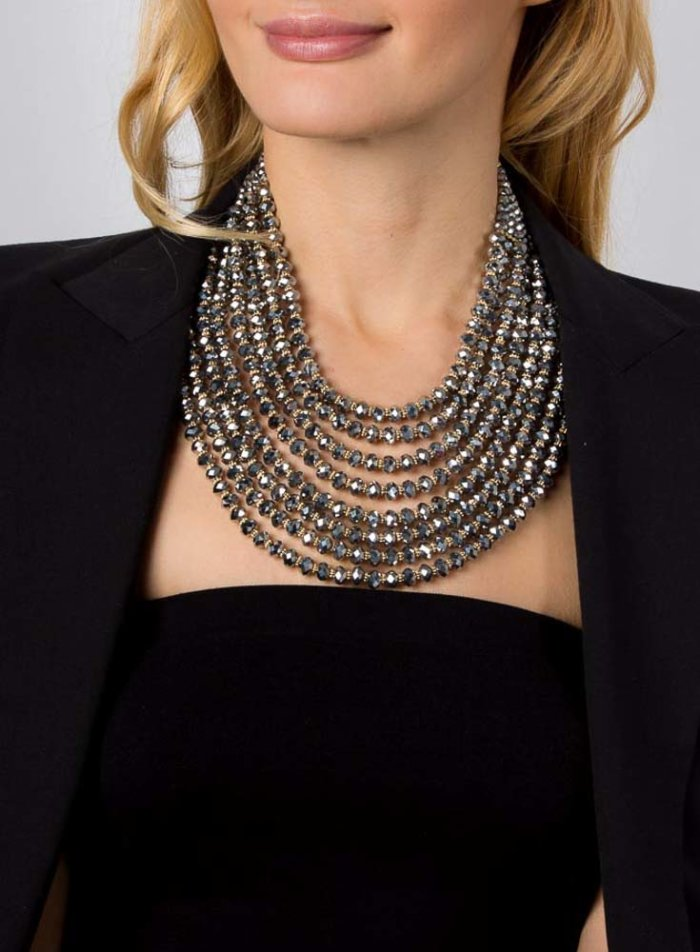 Hanniel Necklace- Charcoal