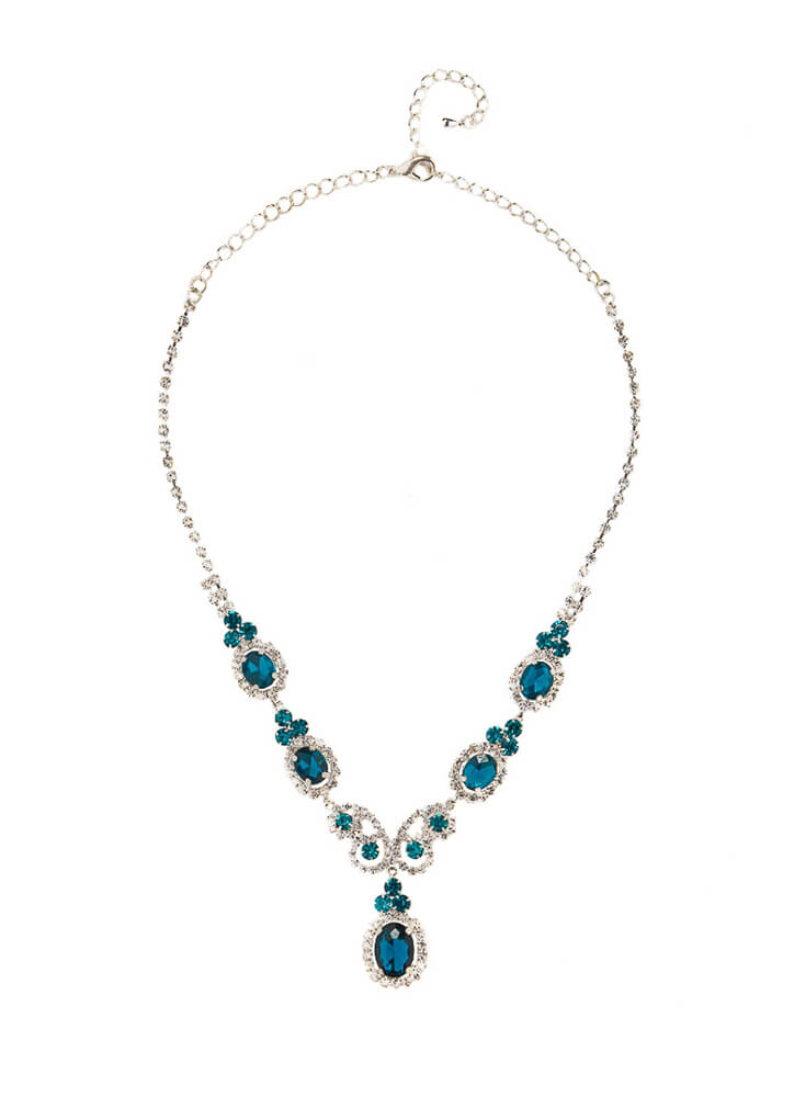 CERULEAN CRYSTAL NECKLACE_