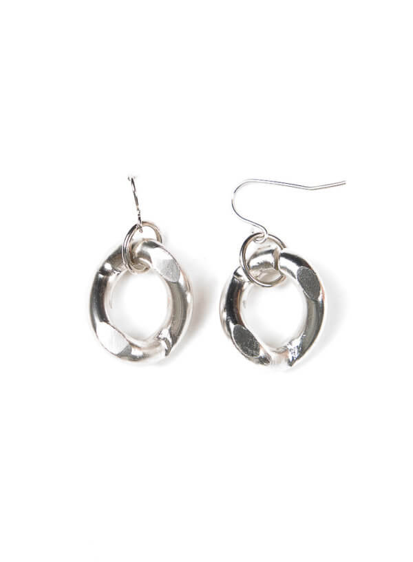 Hannah Necklace Earring in Rhodium