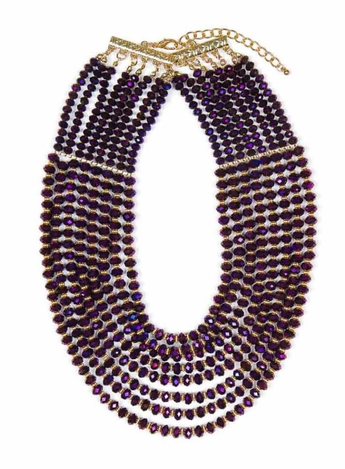 Hanniel Necklace in Purple