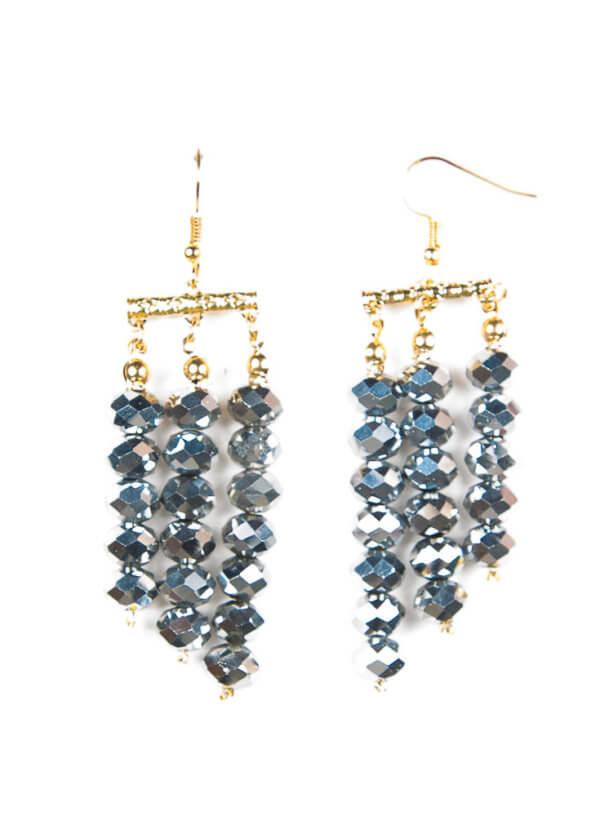 Hanniel Necklace Silver Earrings