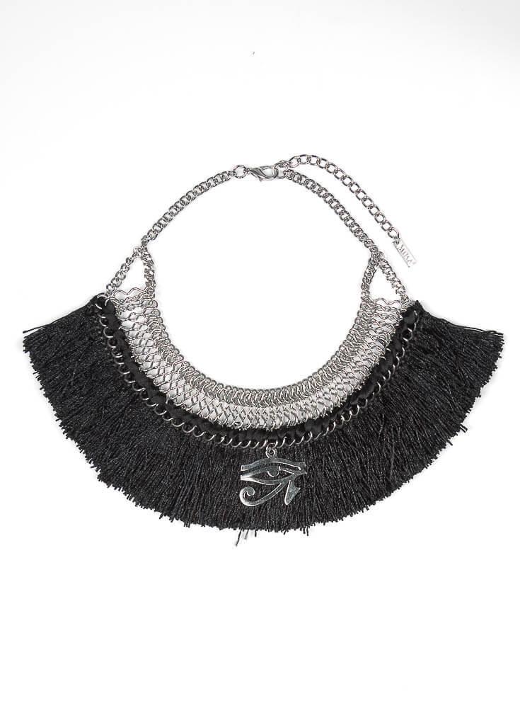 Black Fringe Necklace - resized