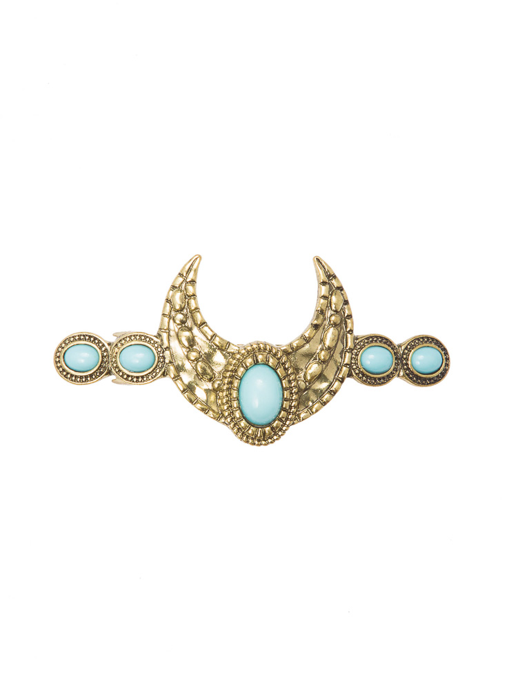 Turquoise Moon Barrette