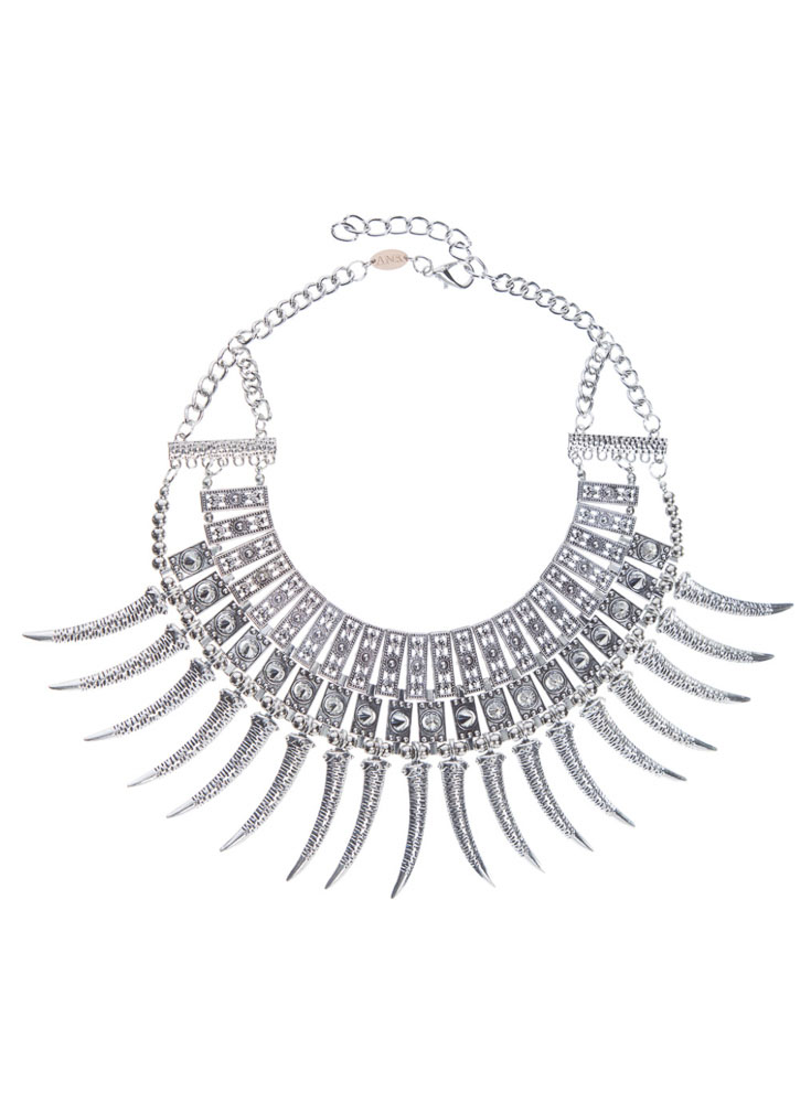 Ashriel Statement Necklace - Antique Silver